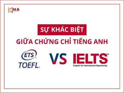 So sánh sự khác nhau giữa IELTS và TOEFL