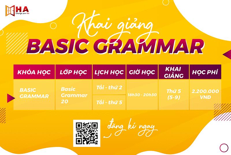 Khai giảng Basic Grammar 20 Cơ Sở Hà Nội