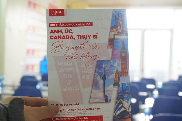 Hội thảo du học các nước Anh, Úc, Canada, Thụy sĩ - Bí quyết xin học bổng 2020