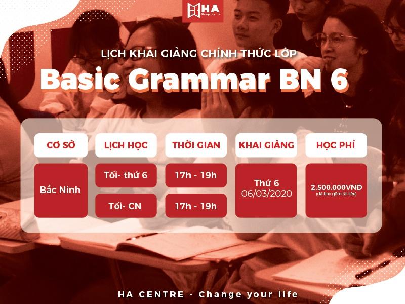 khai giảng khóa học basic grammar BN 06 tại trung tâm anh ngữ Bắc Ninh HA Centre