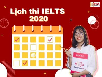 lịch thi ielts năm 2020 mới nhất