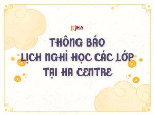 thông báo lịch nghỉ dịch corona tại trung tâm tiếng anh HA Centre