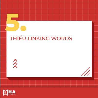Các lỗi sai trong Writing Thiếu Linking Words