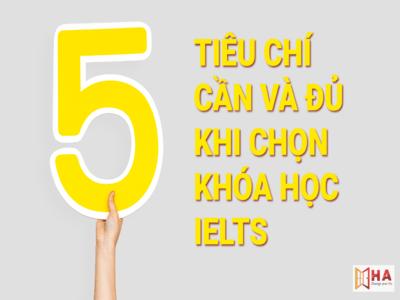 5 chỉ tiêu cần và đủ khi lựa chọn khóa học IELTS