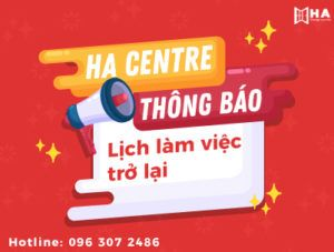 Thông báo lịch hoạt động trở lại tại HA Centre