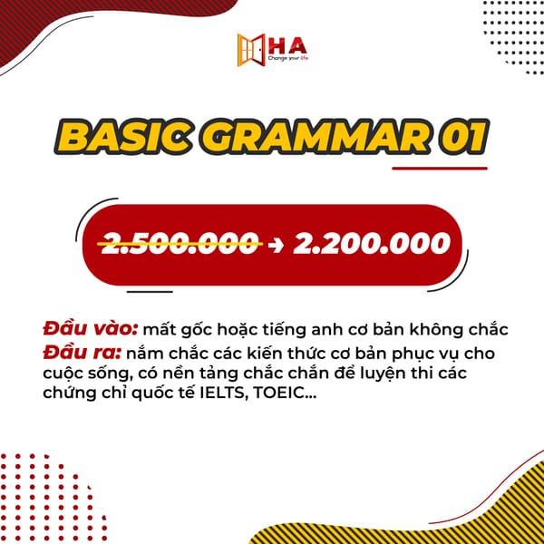 các khóa học basic grammar tháng 6 cs thuận thành