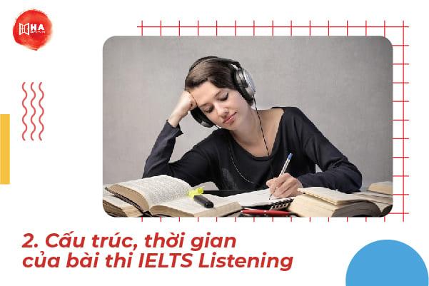 Cấu trúc, thời gian của bài thi IELTS Listening