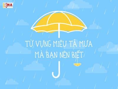 Từ vựng miêu tả mưa trong tiếng Anh mà bạn nên biết