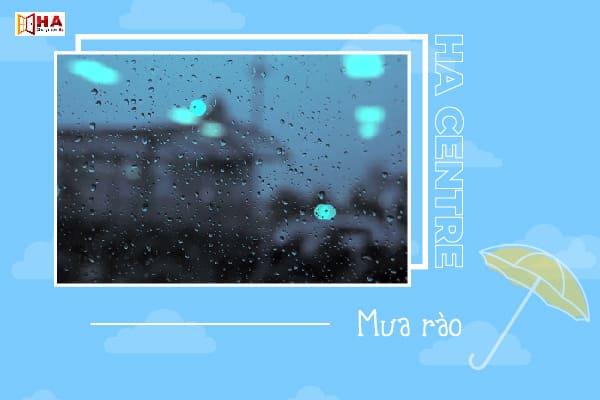 từ vựng về mức độ mưa