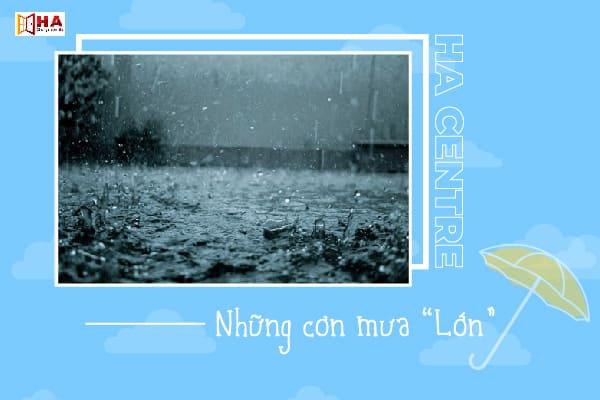 từ vựng về trời mưa