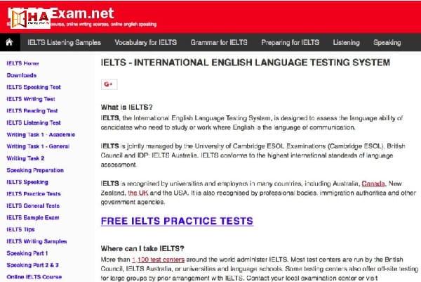 Phần mềm IELTS Exam học ielts trên pc