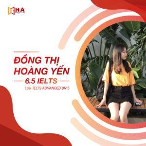 Đồng Thị Hoàng Yến đạt 6.5 IELTS