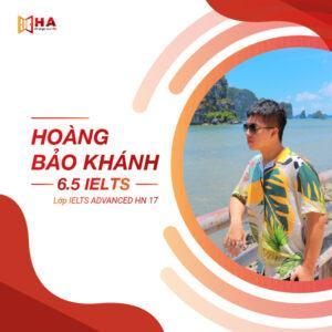 Hoàng Bảo Khánh đạt 6.5 IELTS