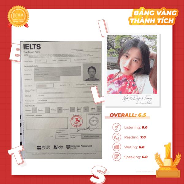 học viên bảng vàng thành tích Quỳnh Trang
