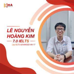Lê Nguyễn Hoàng Kim đạt 7.0 IELTS