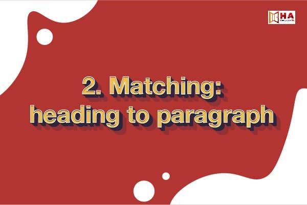 các dạng bài đọc ielts Matching Headings