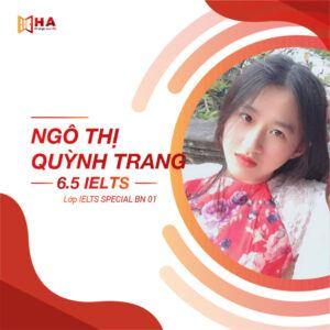 Ngô Thị Quỳnh Trang đạt IELTS 6.5