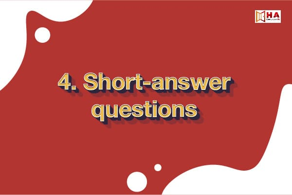 các dạng bài thi reading ielts Short-answer questions