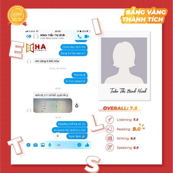 Trần Thị Bình Minh đạt 7.5 IELTS