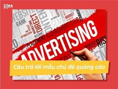 Bài mẫu và từ vựng IELTS Speaking chủ đề Advertisement