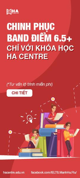 khóa học chinh phục IELTS 6.5 tại HA Centre