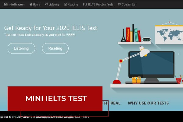 Trang web Mini IELTS Test