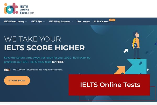 Trang web thi thử IELTS Online Tests