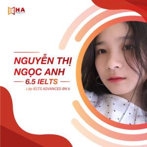 Nguyễn Thị Ngọc Anh đạt 6.5 IELTS tại trung tâm anh ngữ HA Centre
