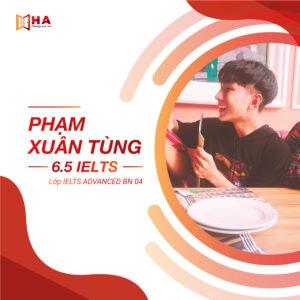 Phạm Xuân Tùng đạt 6.5 IELTS tại trung tâm anh ngữ HA Centre