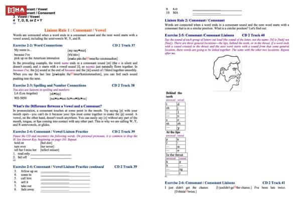Hướng dẫn sử dụng sách American Accent Training