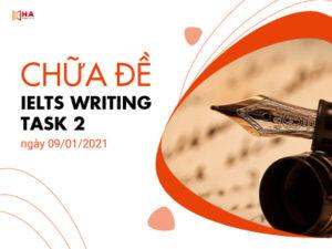 Chữa đề IELTS Writing task 2 ngày 09/01/2021