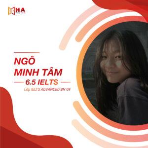 Ngô Minh Tâm đạt 6.5 IELTS tại trung tâm tiếng Anh HA Centre
