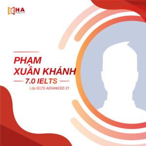 Phạm Xuân Khánh đạt 7.0 IELTS tại trung tâm HA Centre