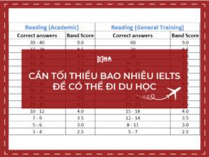 Cần tối thiểu bao nhiêu điểm IELTS để có thể đi du học