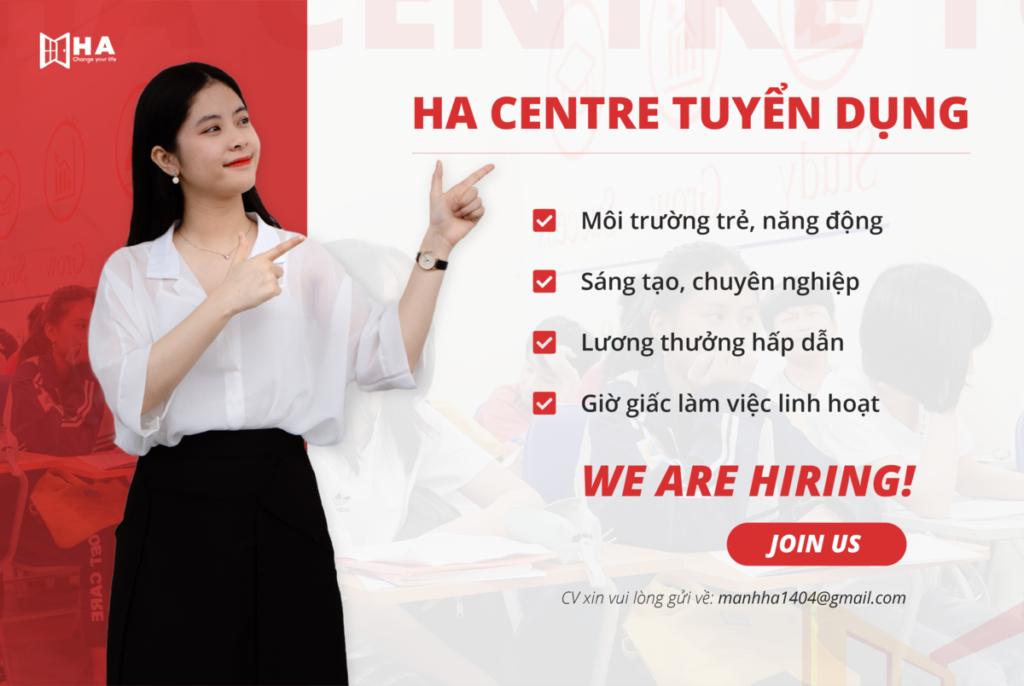 HA Centre tuyển dụng 2021