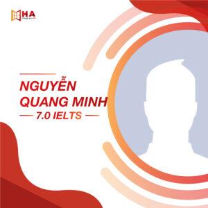 Nguyễn Quang Minh đạt 7.0 IELTS tại trung tâm HA Centre