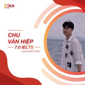 HVXS Chu Văn hiệp đạt 7.0 IELTS tại trung tâm tiếng anh HA Centre