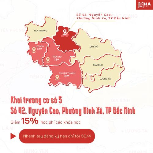 Khai trương cs 5 HA Centre TP Bắc Ninh