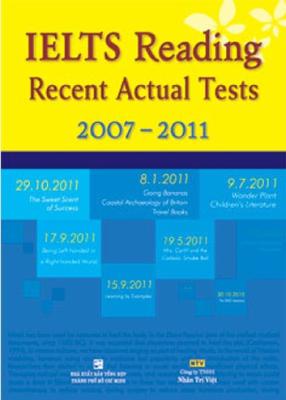 sách IELTS Reading recent actual test