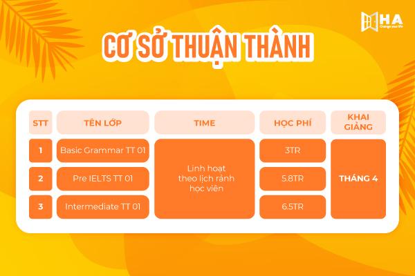 Khai giảng khóa học tháng 5/2021 cs Thuận thành HA Centre