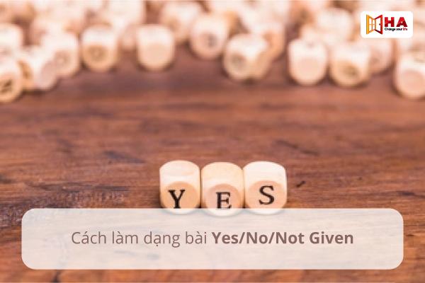 Cách làm dạng bài Yes/No/Not given