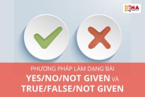 Phương pháp làm dạng bài Yes/No/Not Given và True/False/Not Given