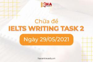 Chưa đề IELTS Writing task 2 ngày 29/05/2021
