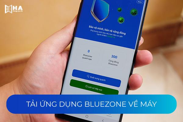 Ứng dụng Bluezone trên smartphone