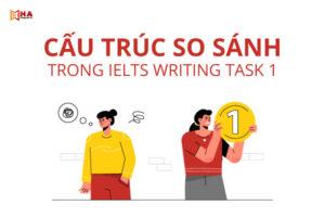 Cấu trúc so sánh trong IELTS Writing task 1