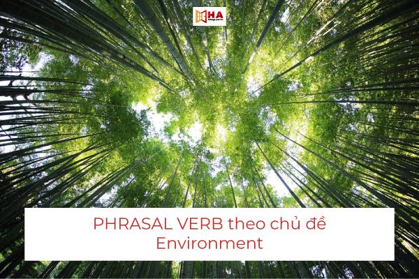 Phrasal Verbs chủ đề Environment