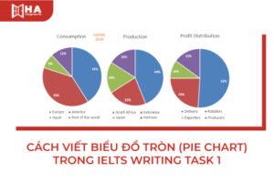 Cách viết biểu đồ tròn (Pie Chart) trong IELTS Writing task 1
