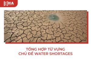 Tổng hợp từ vựng chủ đề Water Shortages